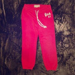 Abercrombie Kids pink athletic sweatpants Sz M